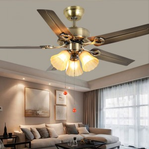 Metal ceiling fan with light (UNI-282)