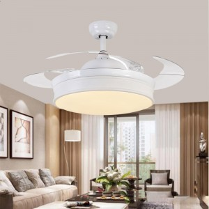 Hidden blades ceiling fan with Led lamp (UNI-174-4)