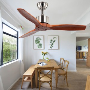Ceiling fan wooden blade without light (UNI-252-2)