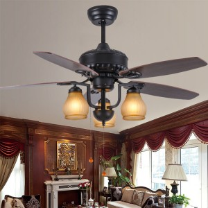 Wood blade ceiling fan with led lights(UNI-116)