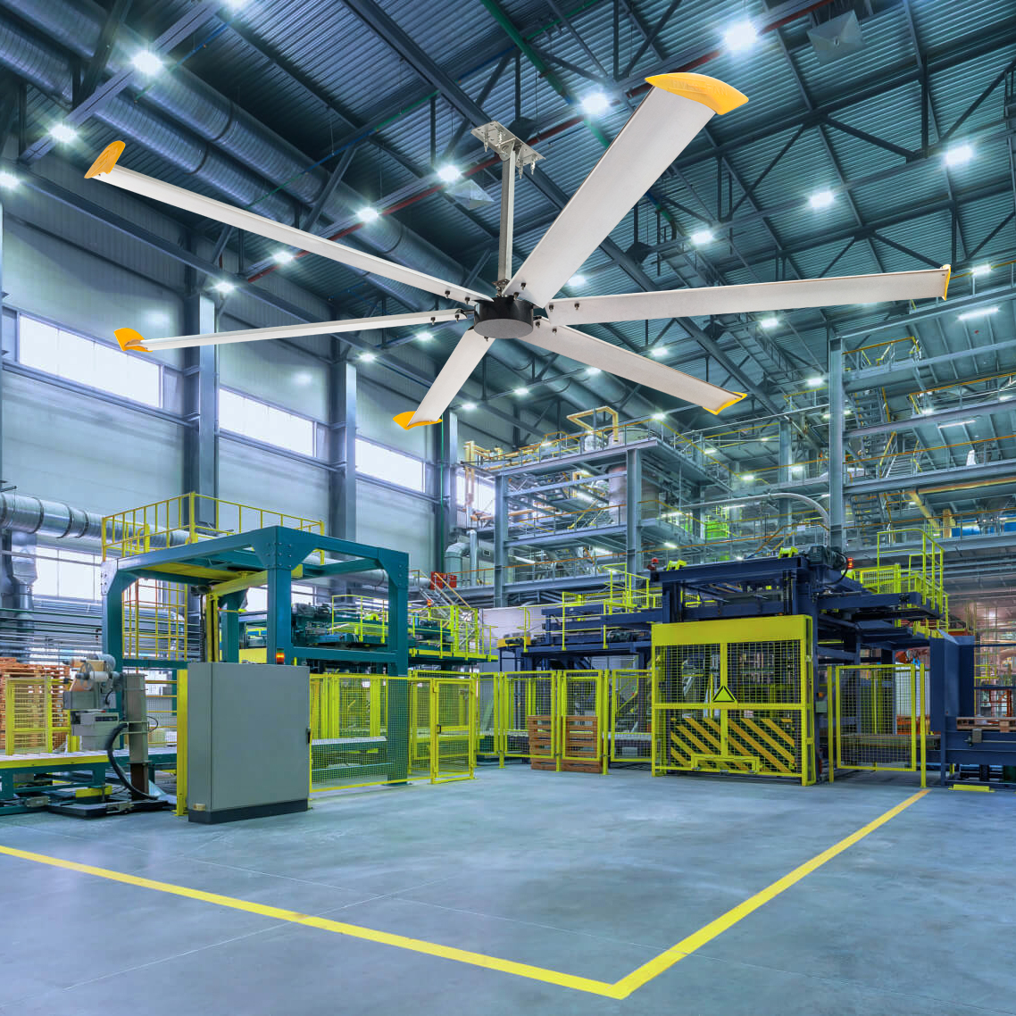 10ft HVLS ceiling fan supplier large commercial & industrial Air cooling fans with DC motor (UNI-299) Featured Image