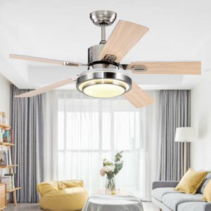 Wood blade ceiling fan with lamp (UNI-143)