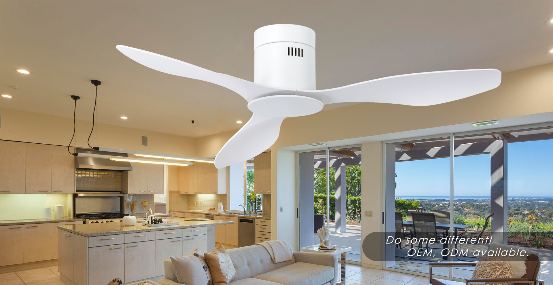 Ultra-thin ceiling fan designer
