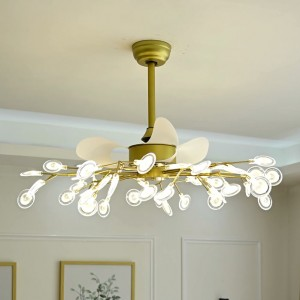 ceiling fan with light modern decorative lighting ceiling fan 26 inch 3 blades mini ceiling fan (UNI-128)
