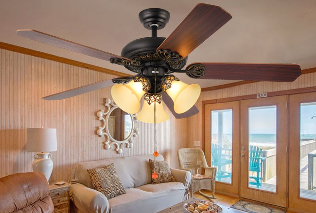 Light ceiling fan
